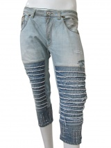 Vic-Torian Frayed Jeans Pedal Pucher