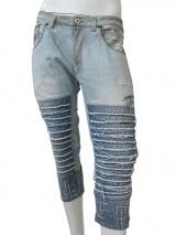 Vic-Torian Pinocchietto di jeans sfrangiato