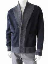 Giulio Bondi Cardigan with marquetry work