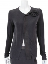Nicolas & Mark Cardigan with leather rose