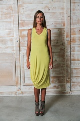 Nicolas & Mark Two-toned trimmed  dress
