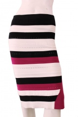 ONE CHOI Tubic Stripes skirt