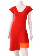 ONE CHOI Two Colours dress back opened