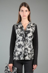 Nicolas & Mark Jacket with Rose Printed