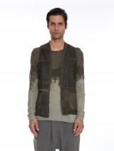 Nicolas & Mark Leather Knitwear Gilet