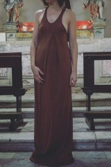 Marc Point Viscose-silk tank dress