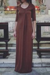 Marc Point Viscose-silk long dress