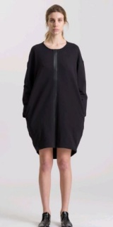 L.V..N Liviana Woman leather profile dress