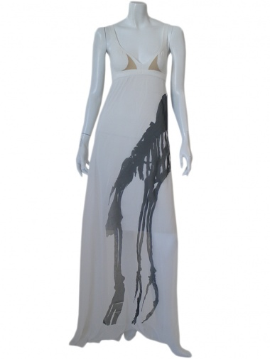 Jennifer Sindon Long dress with ribbon