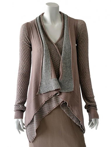 Angelos-Frentzos Cardigan in double net Marlen