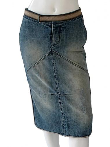 Angelos-Frentzos Denim Skirt