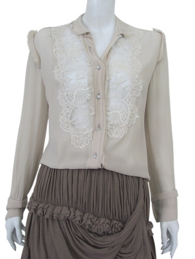 Norio Nakanishi Shirt with lace