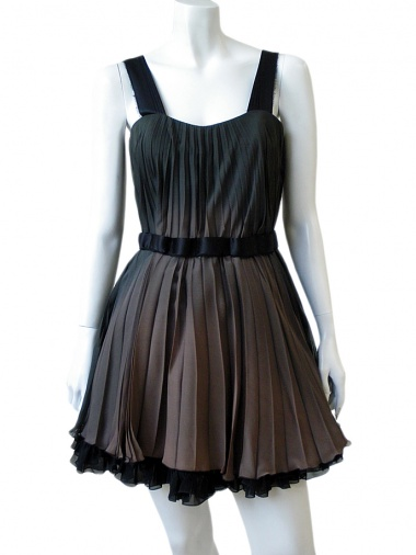Angelos-Frentzos Accordeon pleated dress with shoulder straps