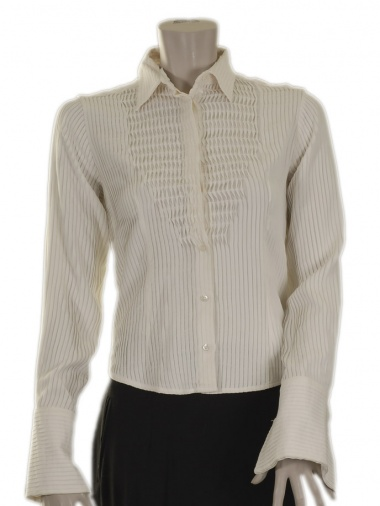 "Angelos Frentzos Pre Shirt with pleated ""bib"""