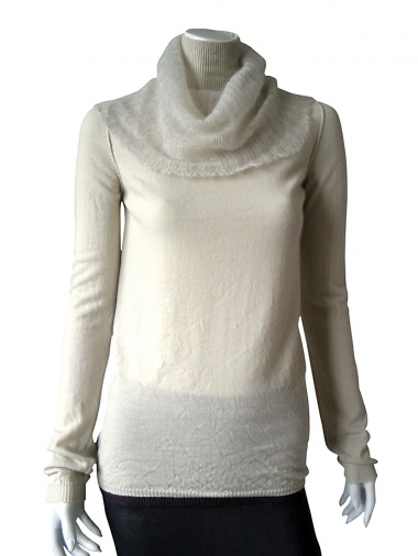 Once More Pullover with collar in Mohair