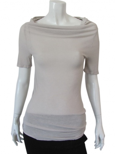Vivia Ferragamo Shawl neck t-shirt