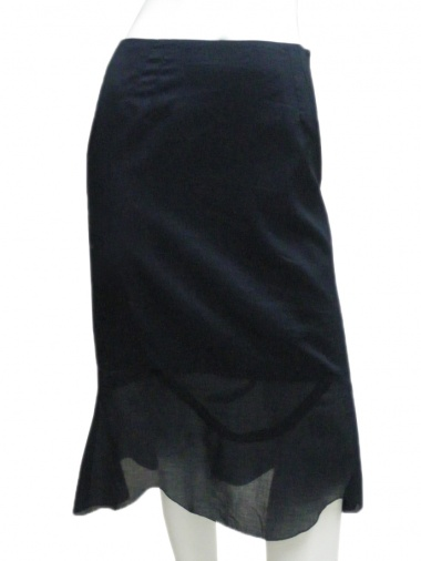 Angelos-Frentzos Skirt with inset at the bottom