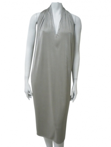 Angelos-Frentzos Dress with drape fastened at the neck