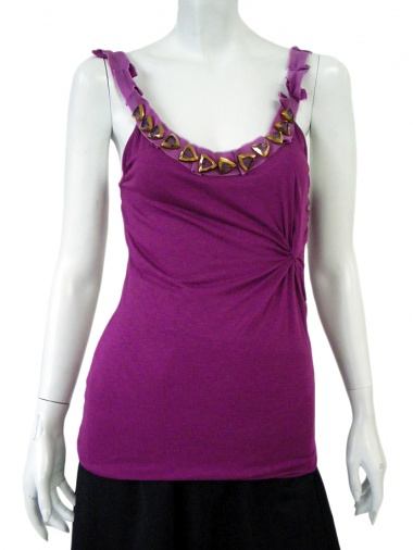 Angelos-Frentzos Top with embroideries