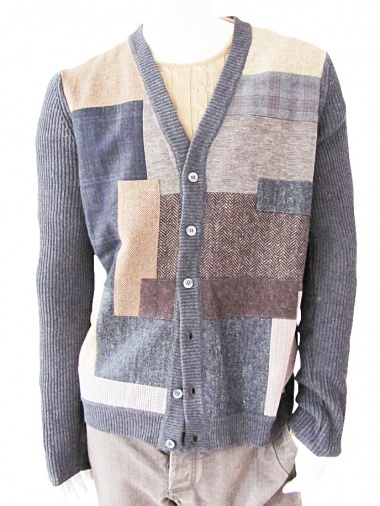 T-Shirt Patchwork Cardigan