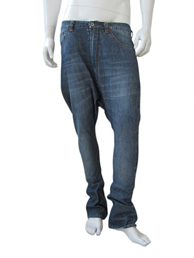 Vic-Torian Washed-out tea blue jeans with low crotch