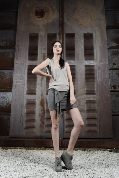 Nicolas & Mark Mini-Skirt with valants