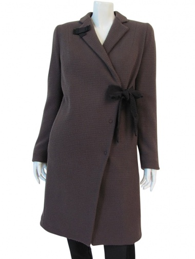Volod'ja Overcoat with Lateral Bow