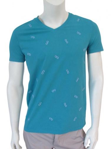 Giulio Bondi T-Shirt M/M scavo V occhiali