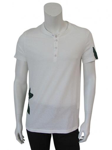 Giulio Bondi T-shirt Serafino foglie