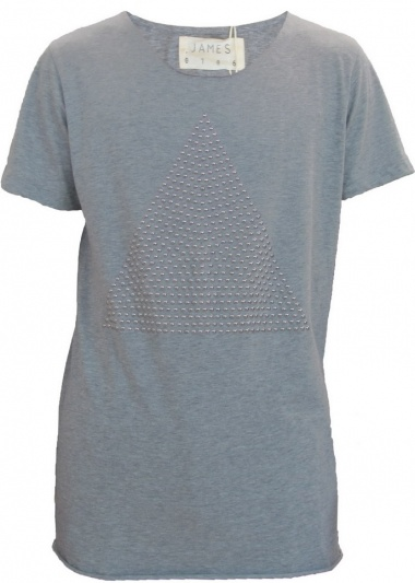 JAMES 0706 T-Shirt with Triangular Pattern