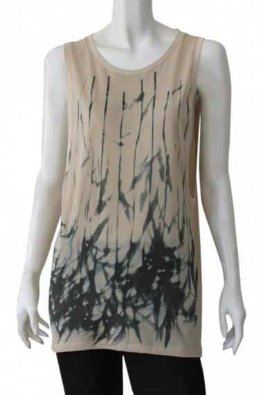 Nicolas & Mark Sleeveless branch print shirt