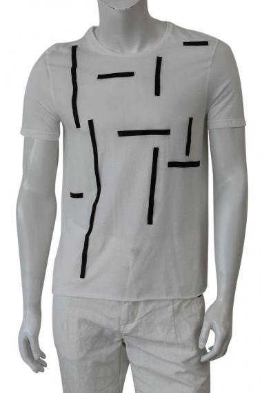 Nicolas & Mark T-Shirt M/M applicazioni pelle
