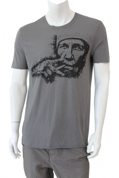 Nicolas & Mark T-shirt cigarette printing